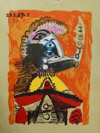 Lithographie Picasso - Portraits Imaginaires 27.2.69 I