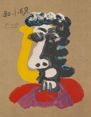 Lithographie Picasso - Portraits Imaginaires 30.1.69