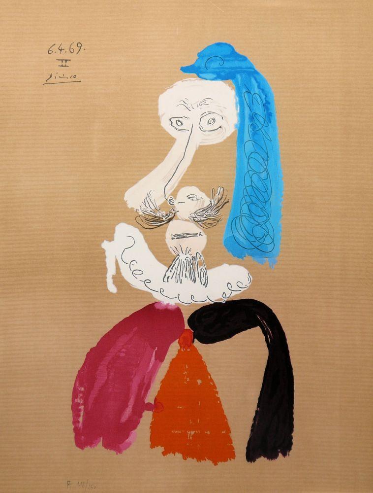 Lithographie Picasso - Portraits Imaginaires 6.4.69 II