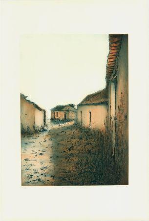 Eau-Forte Et Aquatinte Gortner - Portugiesische Dorfstrasse