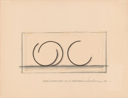 Lithographie Venet - Position of three major arcs of 265.5° each