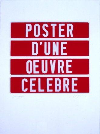 Sérigraphie Ducorroy - Poster d'une oeuvre célèbre