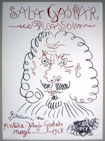 Lithographie Picasso - Poster Exhibition Sala Gaspar