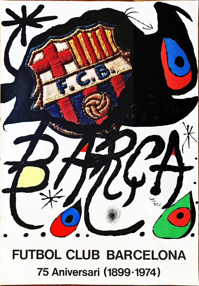 Aucune Technique Miró -  Poster for the 75th Anniversary of the Barcelona Football Club