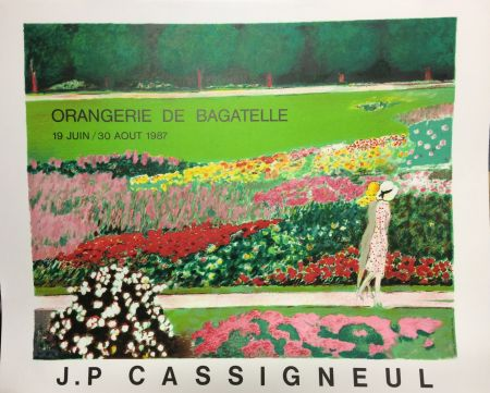 Lithographie Cassigneul  - Poster for the exhibition at Orangerie de Bagatelle