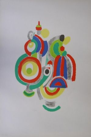 Lithographie Delaunay - Poupées portugaises