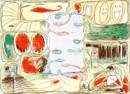 Lithographie Alechinsky - Pour Claude Simon