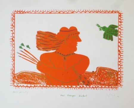 Lithographie Fassianos - Pour Georges Rabol