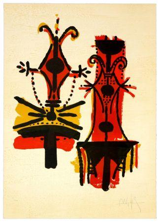 Lithographie Lam - Pour Jorn
