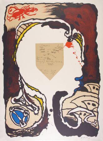 Lithographie Alechinsky - Pour Jorn