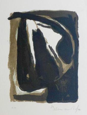 Lithographie Van Velde - Pour Le crime d'une nuit d'E. Bove