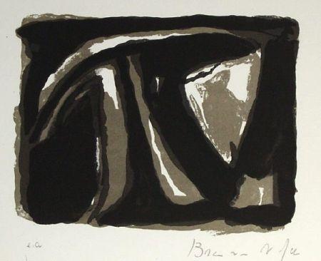 Lithographie Van Velde - Pour Paul Celan