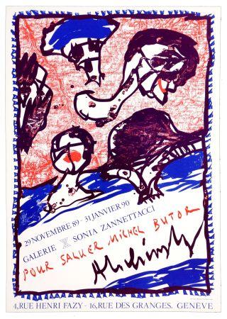 Affiche Alechinsky - Pour saluer Michel Butor
