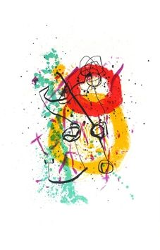 Lithographie Miró - Pour XX° siècle n°16