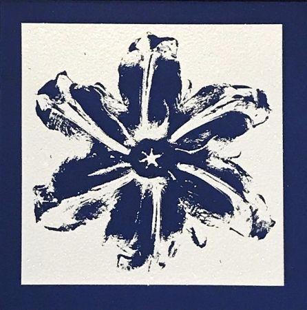 Sérigraphie Robierb - Power Flower (Blue)