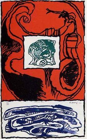 Lithographie Alechinsky - Premier acte