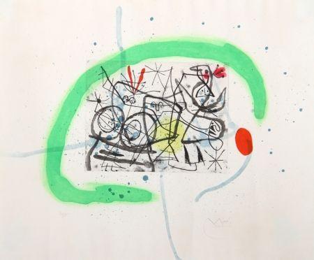 Aquatinte Miró - Preparatifs d'Oiseau IV