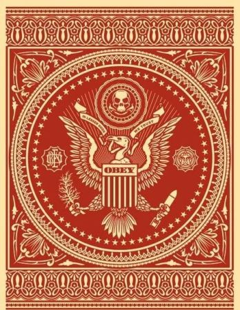 Sérigraphie Fairey - Presidential Seal Red