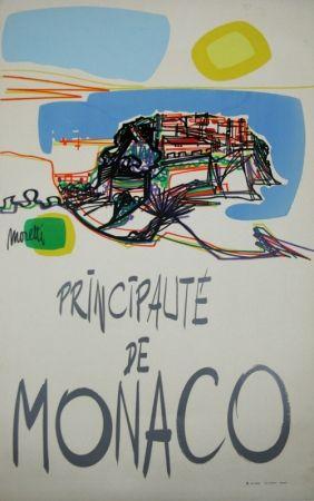 Sérigraphie Moretti - Principauté de Monaco  1960