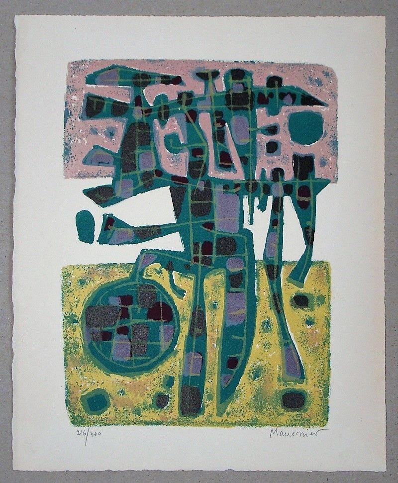 Lithographie Manessier - Printemps Nordique II. - 1956