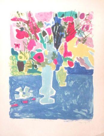 Lithographie Bezombes - Printemps Sous Le Signe Des Fleurs