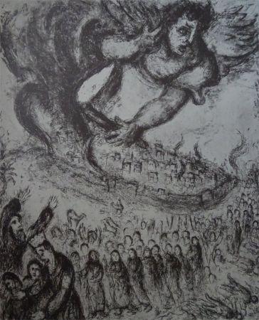 Eau-Forte Chagall - Prise de Jerusalem