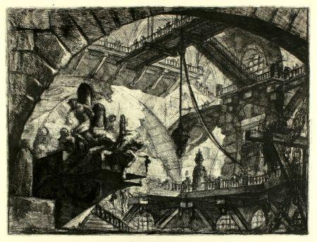 Gravure Piranesi - Prisoners on a projecting Platform (Carceri X)
