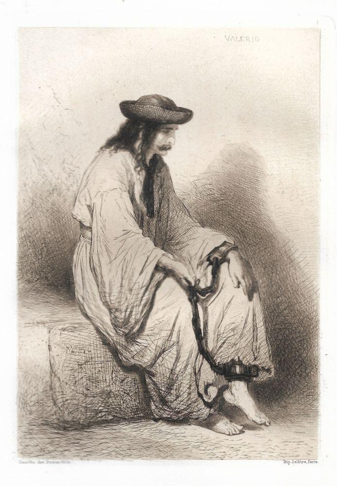 Gravure Valério - Prisonnier hongrois (Hungarian Prisoner)