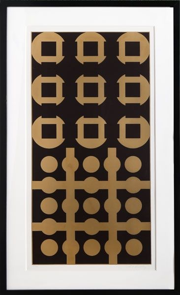 Sérigraphie Vasarely - Procion from Constellations