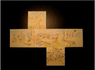 Offset Matta - Projet pour un cube - Exposition Galerie Samy Kingel