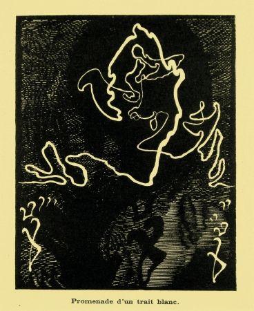 Gravure Sur Bois Kupka - Promenade d'un trait blanc
