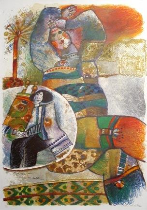 Lithographie Tobiasse - Prophetesse