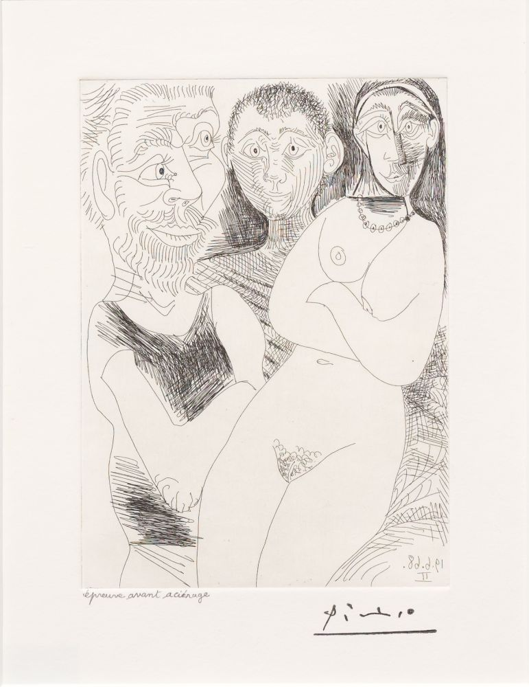 Gravure Picasso - Prostitutee et Marins