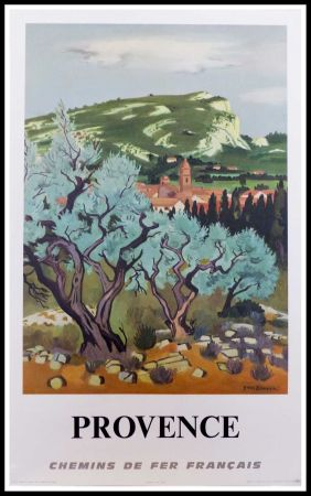Lithographie Brayer - PROVENCE