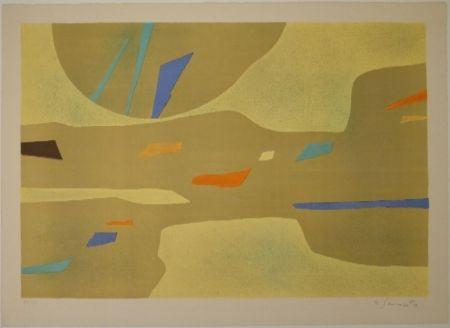 Lithographie Singier - Provence grande lumière