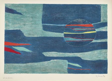Lithographie Singier - Provence : soleil, mer froide