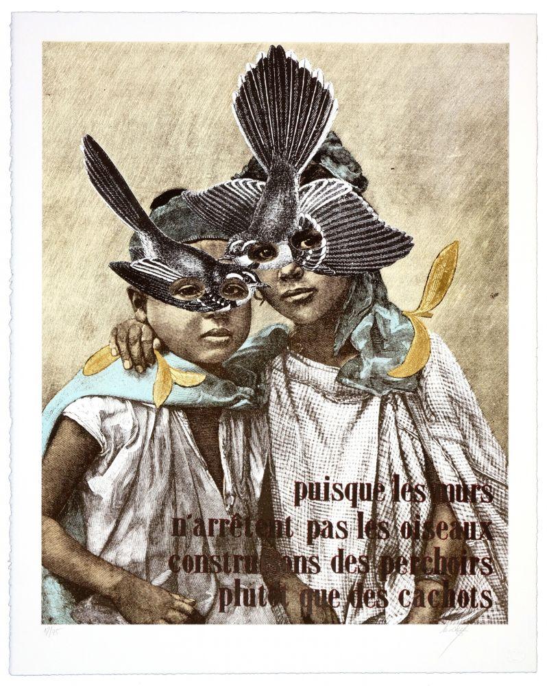 Lithographie Madame - Puisque les murs