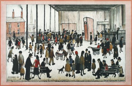Lithographie Lowry - Punch and Judy