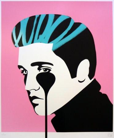 Sérigraphie Pure Evil - Pure Elvis - King Creole (pink, black & green)