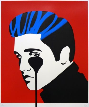Sérigraphie Pure Evil - Pure Elvis - The Number One (blue & red)