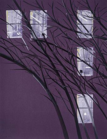 Sérigraphie Katz - Purple Wind