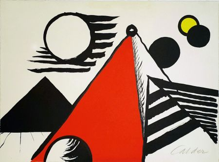 Lithographie Calder - Pyramid Rouge