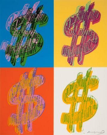 Sérigraphie Warhol - $ Quadrant