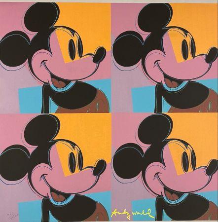 Offset Warhol - Quadrant Mickey Mouse