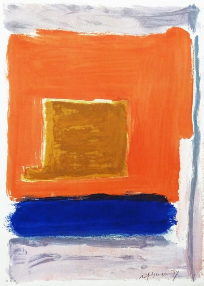 Gravure Ràfols Casamada - Quadrat i taronja