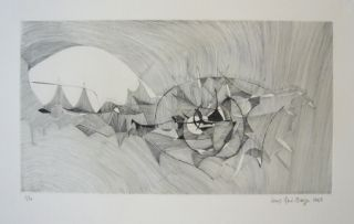 Gravure Berge - Quadrige