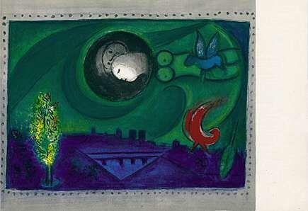Lithographie Chagall - Quai de Bercy