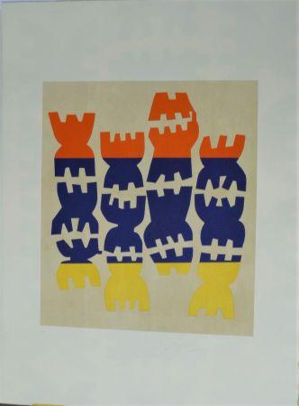 Lithographie Capogrossi - Quarzo 5