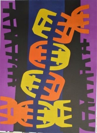 Lithographie Capogrossi - Quarzo 6