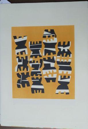 Lithographie Capogrossi - Quarzo 8
